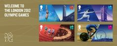 Welcome to London stamps for the Olympics Games, by Hat-Trick