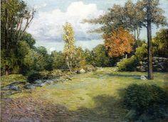 """Autumn Days"", huile sur toile de Julian Alden Weir (1852-1919, United States)"