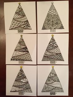 Learn To Draw A Realistic Rose - Drawing On Demand Doodle Patterns, Card Patterns, Zentangle Patterns, Christmas Tree Zentangle, Christmas Doodles, Xmas Drawing, Christmas Drawing, Zentangle Drawings, Doodles Zentangles