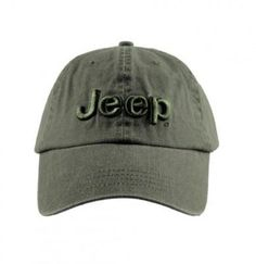 727b6844 Unstructured hat in 100% washed heavy cotton, 'canvas' weave, Jeep logo  embroidered on front with 3D technique. Adjustable strap with metal buckle  and Jeep ...