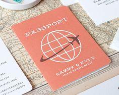 Passport Save the Date, Destination Save the Date, Boarding Pass Save the Date, Wedding Invitation, Letterpress, Foil Stamp - DEPOSIT