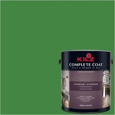 Kilz Complete Coat Interior/Exterior Paint & Primer in One, #RH110 Watered Grass, Red