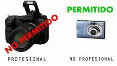 Recuerda que en los conciertos no se permitirán cámaras PROFESIONALES, es decir, con lentes de alto alcance o con lentes removibles