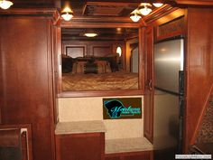 Royal Trail Rider in Cherry - Montana Horse Trailers custom Living Quarters in horse trailers, motor cycle trailers, and toy haulers