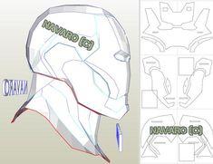 Iron Man Helmet, Iron Man Suit, Iron Man Armor, Iron Man Pepakura, Pepakura Helmet, Hq Marvel, Marvel Dc Comics, Casco Iron Man, How To Make Iron