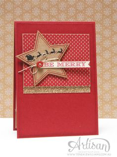 By Teneale Williams | Artisan Blog Hop | Many Merry Stars, Holiday Home, Holiday Invitation