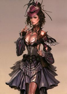 # STEAMPUNK LADY ART
