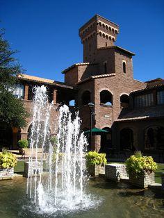 Borgata Fountain in Scottsdale by Dru Bloomfield - At Home in Scottsdale, via Flickr