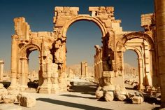 The Palmyre ruins of Syria