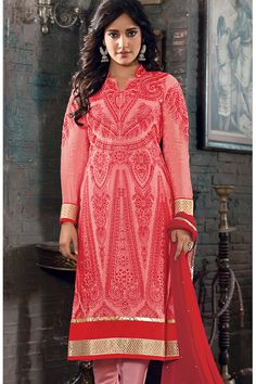 Traditional Colour red with jacquard material give Trendiest look.....