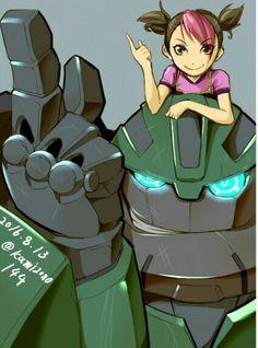Bulkhead & Miko (Transformer Prime) by Kamizono