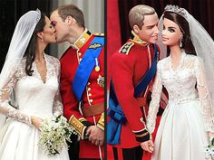 William & Kate Barbie and Ken Dolls ... Too Cute!