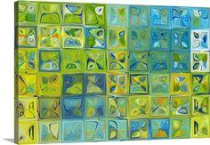 Green Blue Tile Art