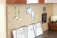 Crafty Sisters: Burlap Message Board (Ballard Designs Knock-Off) - Would love to make for work or home desk.