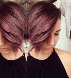 dusty rose / pastel hair from @shagboston