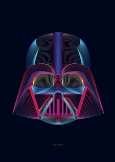 Darth Vader | By: Célia Teboul (via Behance) | #starwars #starwarsfanart #darthvader