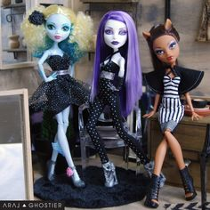 Monster Doll Noir Collection by AralGhostier on Etsy