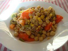 salada maladra de grao de bico e atum (tuna and chickpea salad)
