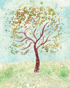 Tree Art - Everything in it's Own Place - 8x10 by papermoth on Etsy https://www.etsy.com/listing/61860322/tree-art-everything-in-its-own-place