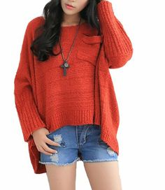 $44.48 cool Vangood Women's Short Long Before After a Loose Sweater