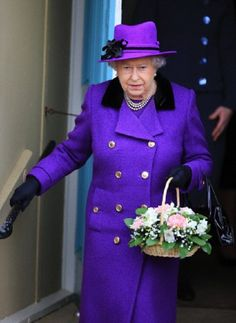 Queen Elizabeth II attends West Newton Church on her Sandringham Estate, Norfolk