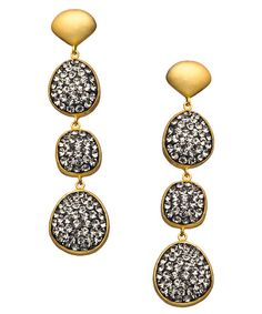 seraphina black diamond drop earrings