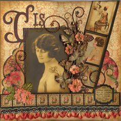 Modeling Days, 1920s...gorgeous colors and embellishments. Love the film strip with vintage illustrations of women.