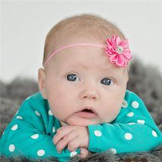 Newborn Toddler Hair band with Mini Chiffon Flower Headband Infant Hair Weave Band Baby Headband | baby headband | Bajby.com - is the leading kids clothes, toddlers clothes and baby clothes store.