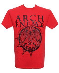 Arch Enemy - War Eternal Red Heavy Metal Fashion, Metal Shirts, Arch Enemy, Band Shirts, Rock N Roll, Menswear, War, Mens Tops, How To Wear