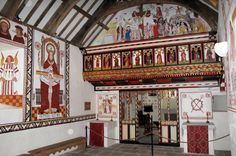 What medieval English and Welsh Catholic churches looked like. Notice how the sanctuary is truly a Holy of Holies, set apart from the rest of the church by the rood screen.