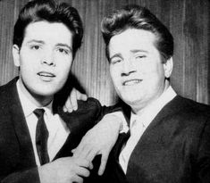 Cliff Richard and Johnny Burnette. 50s Vintage, Vintage Images, Cliff, Rock N Roll, Scene, Singer, Trains, Music, Fictional Characters