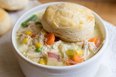 Slow Cooker Chicken Pot Pie Soup will be a new family favorite meal. #CrockPot #SlowCooker #Recipe #Chicken #PotPie #Soup