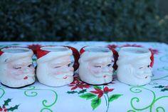 mini santa shot glass mugs. $9.00, via Etsy.