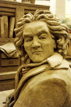 """""""Beethoven""""   -   Part of """"Celebrate the Arts"""" at the Thousand Oaks Mall, working with Sand Sculptors International"""