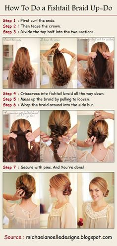 How To Do a Fishtail Braid Up-Do