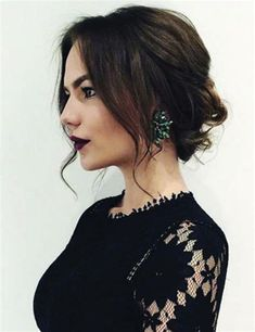 30 Trendy and Cute Messy Updos for Long Hair 44 Ball Hairstyles, Prom Hairstyles For Short Hair, Haircuts For Fine Hair, Best Wedding Hairstyles, Trendy Hairstyles, Straight Hairstyles, Bridal Hairstyle, Hairstyle Ideas, Holiday Hairstyles