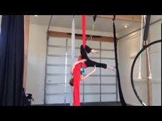 Meathook entry into S-lock on Aerial Silk - YouTube