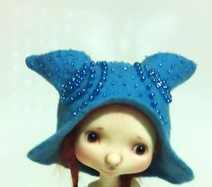 "Felted OOAK hat ""Magic of crystals"" for Sprocket by Connie Lowe and dolls similar format by Valyashki on Etsy"