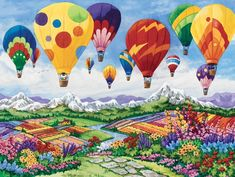 Ravensburger Spring is in the Air 1500 Piece Jigsaw Puzzle for Adults – Softclick Technology Means Pieces Fit Together Perfectly 300 Piece Puzzles, Fabric Softener Sheets, Paint Prices, Diamond Paint, Animals Images, Paint Set, Hot Air Balloon, Urban Art, Spring