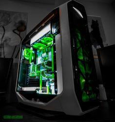 "Welcome to another Case Mod Friday showcase! This week we have Snef's ""Green Carnage"" build. Here is what he had to say about it, ""In a month, I will not have a gaming PC anymore. I need to build a new one, but I want it simple but VERY clean, will use it for my business. Theme will be white (for"