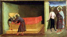 Masolino da :Panicale - saint julien asesinando a sus padres