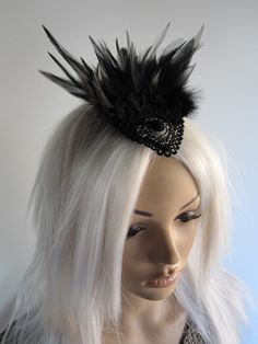 Fascinator Hairpiece Headpiece Gothic Burlesque by Ravennixe dace65c8823