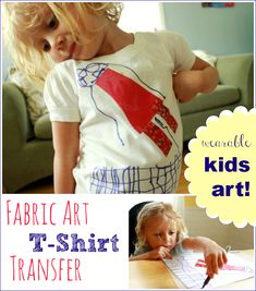 Fabric Transfer Tshirt -- Great Wearable Art Project for Kids!