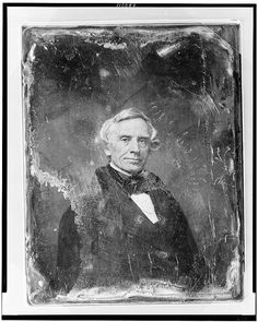 This head-and-shoulders portrait of Samuel Morse is a daguerreotype made between 1844 and 1860 from the studio of Mathew B Brady. Samuel Morse, inventor of the telegraph, was also considered one of the finest portrait painters of the Romantic Style in America, had studied art in Paris, where he met Louis Daguerre inventor of the daguerreotype. Upon returning to the U.S., Morse set up his own photographic studio in New York. He was among the first in America to make portraits using the new da...