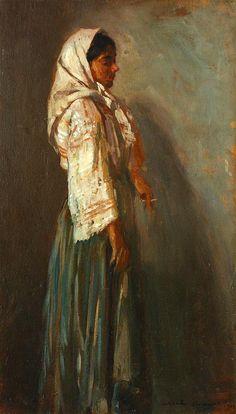 "Nicolae Vermont, ""Chivuță"" Vermont, Art Gallery, Old Things, Classic, Inspiration, Folk Costume, Europe, Paintings, Women"