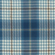Brennan Cobalt Blue Plaid/Check Cotton Upholstery Fabric by Roth and Thompkins - 56103 Plaid Fabric, Blue Fabric, Cotton Fabric, Motifs Textiles, Check Fabric, Blue Check, Blue Plaid, Gingham, Brown And Grey