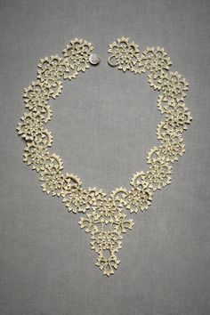 Queen Anne's lace necklace from bhldn, based on a medieval French crafting technique.