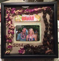 Hawaii vacation shadow box