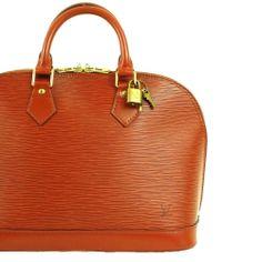 MINT! $2010 LOUIS VUITTON EPI ALMA Brown LV Handbag w/ Lock & Keys Authentic