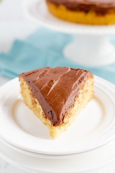 Yellow Sour Cream Cake With Fudge Frosting - Bunny's Warm Oven Cream And Fudge, Sour Cream Cake, Lemon Recipes, Easy Cake Recipes, Mini Chocolate Cake, Fudge Frosting, Cooking For Two, Cake Toppings, Cakes And More